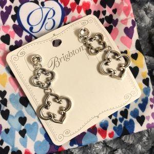Brighton Toledo alto silver dangle earrings
